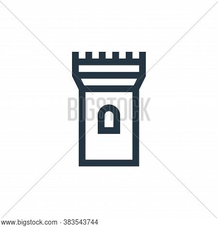 tower icon isolated on white background from fairytale collection. tower icon trendy and modern towe