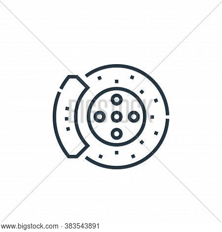 disc icon isolated on white background from driving school collection. disc icon trendy and modern d