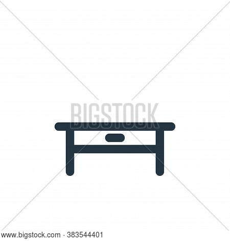 table icon isolated on white background from school collection. table icon trendy and modern table s