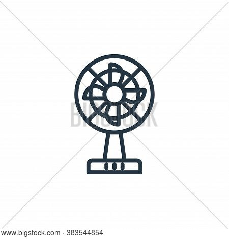 fan icon isolated on white background from furniture collection. fan icon trendy and modern fan symb