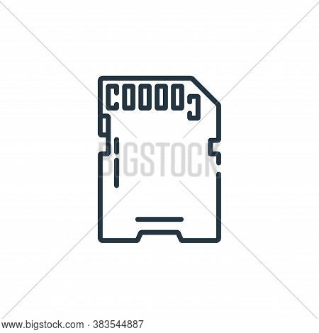 sd card icon isolated on white background from hardware collection. sd card icon trendy and modern s