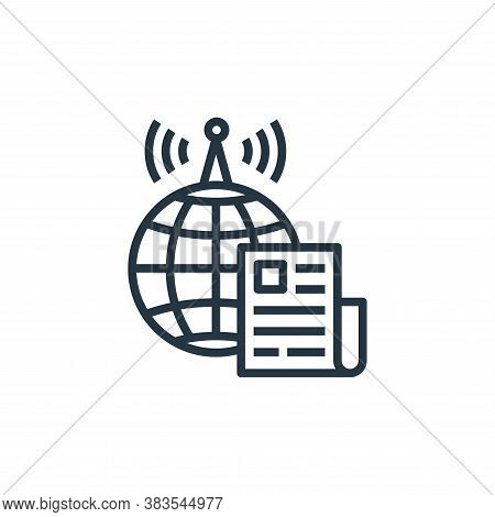 world news icon isolated on white background from detecting fake news collection. world news icon tr