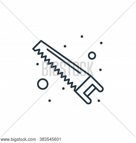 saw icon isolated on white background from labour day collection. saw icon trendy and modern saw sym