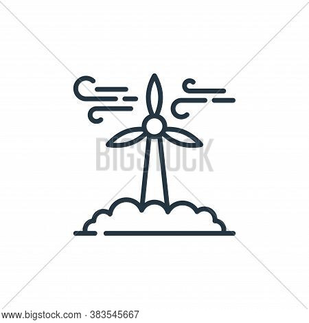 wind turbine icon isolated on white background from mother earth day collection. wind turbine icon t