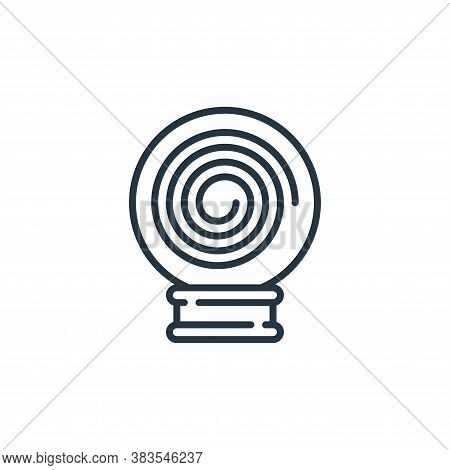 magic ball icon isolated on white background from fairytale collection. magic ball icon trendy and m