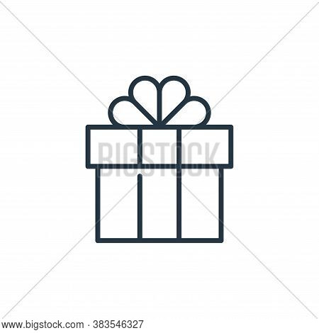 gift icon isolated on white background from celebration collection. gift icon trendy and modern gift
