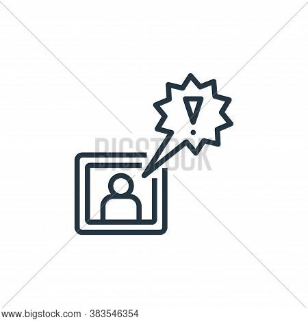 breaking news icon isolated on white background from detecting fake news collection. breaking news i