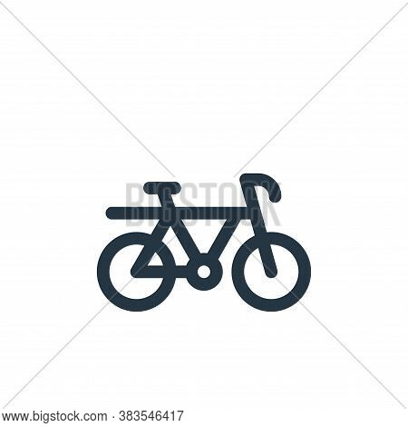 bike icon isolated on white background from public transportation collection. bike icon trendy and m