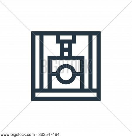 molding machine icon isolated on white background from machinery collection. molding machine icon tr