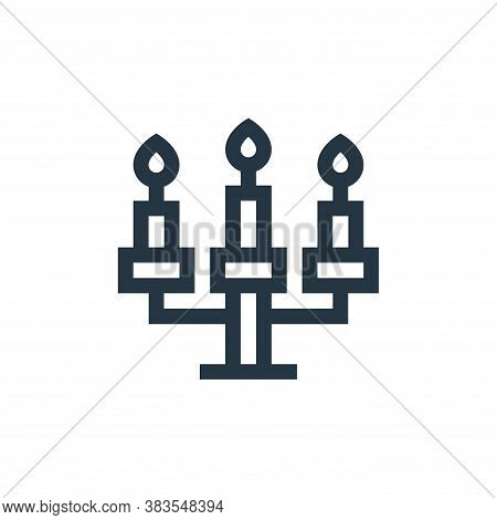 candelabra icon isolated on white background from fairytale collection. candelabra icon trendy and m