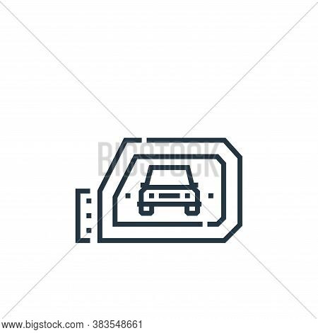 rearview mirror icon isolated on white background from driving school collection. rearview mirror ic