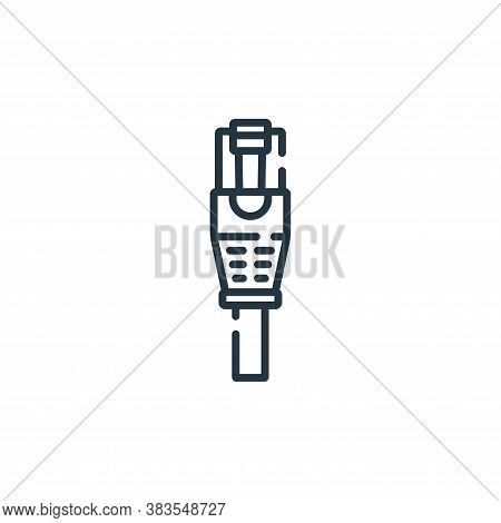 network cable icon isolated on white background from hardware collection. network cable icon trendy