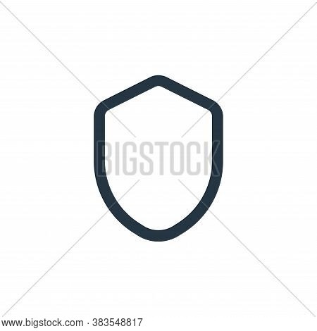 shield icon isolated on white background from interface collection. shield icon trendy and modern sh