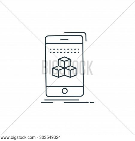 d cube icon isolated on white background from d printing and communication collection. d cube icon t