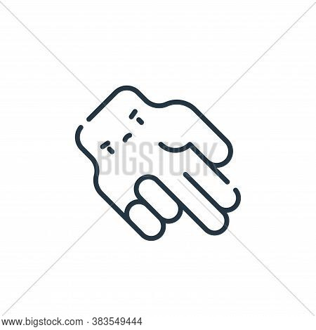 hand sign icon isolated on white background from baseball collection. hand sign icon trendy and mode