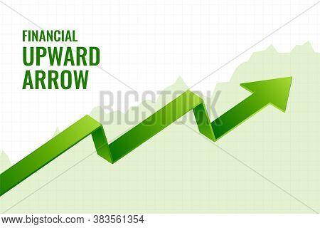 Financial Incline Growth Upward Arrow Trend Background Design