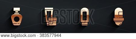 Set Perfume, Cream Or Lotion Cosmetic Tube, Cream Or Lotion Cosmetic Tube And Antiperspirant Deodora