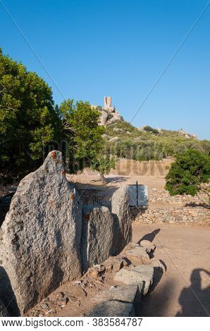 August 23, 2020 - Olbia  , Italy: Tomb Of Giants  Su Monte S\'abe