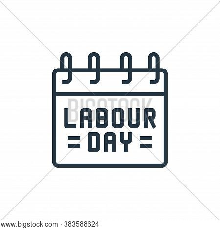 labor day icon isolated on white background from labour day collection. labor day icon trendy and mo