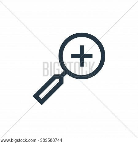 zoom in icon isolated on white background from vector editing collection. zoom in icon trendy and mo