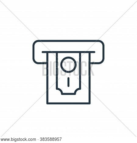 atm icon isolated on white background from finance collection. atm icon trendy and modern atm symbol