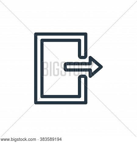 logout icon isolated on white background from miscellaneous collection. logout icon trendy and moder