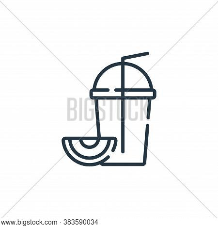 smoothies icon isolated on white background from fast food collection. smoothies icon trendy and mod