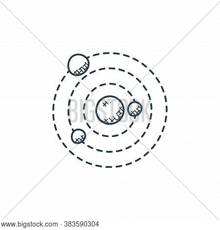 solar system icon isolated on white background from space and aircraft collection. solar system icon