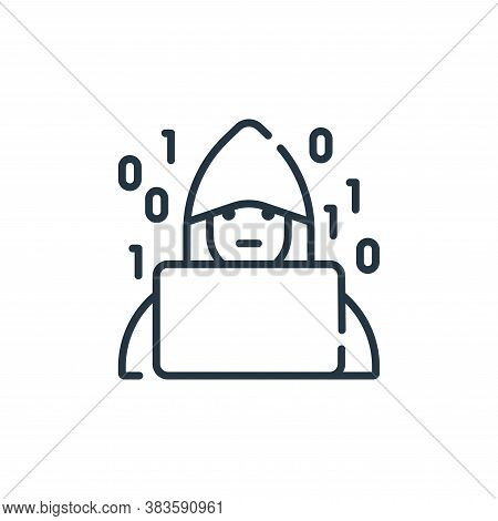 hacker icon isolated on white background from programming collection. hacker icon trendy and modern