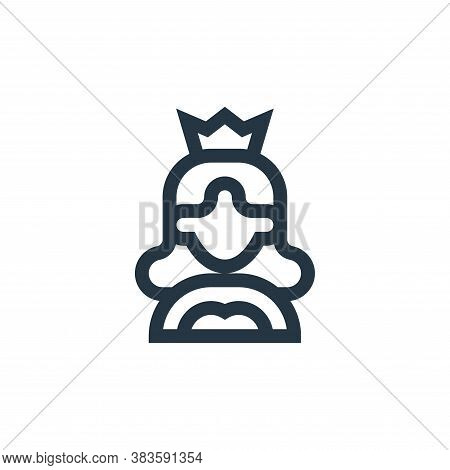 queen icon isolated on white background from mothers day collection. queen icon trendy and modern qu