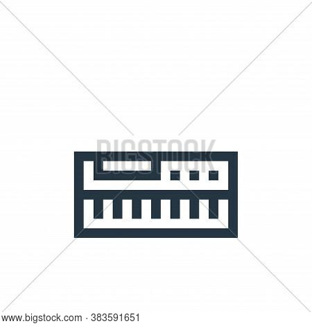 keyboard icon isolated on white background from music festival collection. keyboard icon trendy and