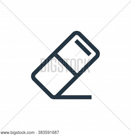 eraser icon isolated on white background from vector editing collection. eraser icon trendy and mode