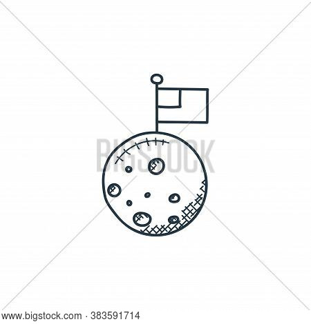 mission icon isolated on white background from space and aircraft collection. mission icon trendy an