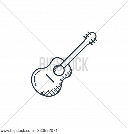 guitar icon isolated on white background from music collection. guitar icon trendy and modern guitar
