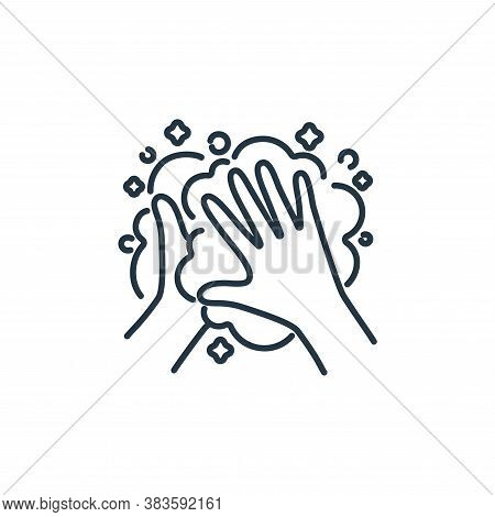 hand washing icon isolated on white background from air pollution collection. hand washing icon tren