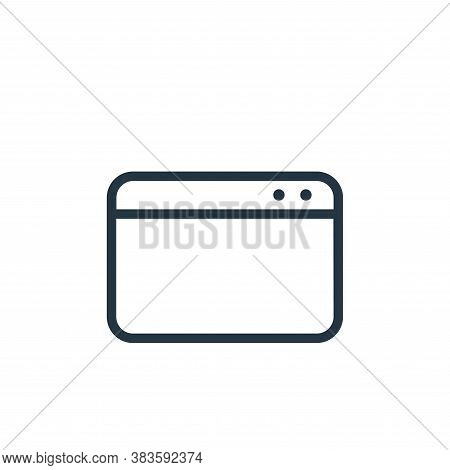 web page icon isolated on white background from seo collection. web page icon trendy and modern web