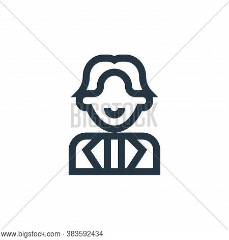singer icon isolated on white background from music festival collection. singer icon trendy and mode