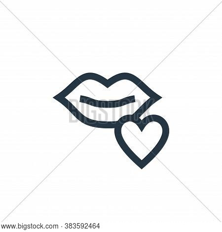 kiss icon isolated on white background from mothers day collection. kiss icon trendy and modern kiss