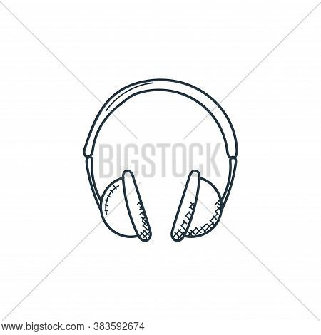 headphones icon isolated on white background from music collection. headphones icon trendy and moder