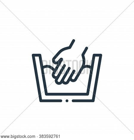 hand wash icon isolated on white background from fabric features collection. hand wash icon trendy a