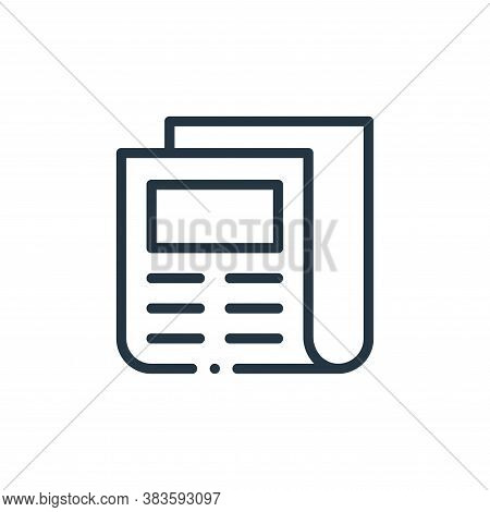 newspaper icon isolated on white background from books collection. newspaper icon trendy and modern