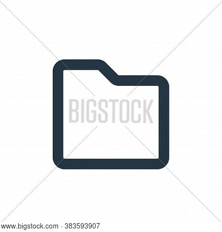 folder icon isolated on white background from basic ui collection. folder icon trendy and modern fol