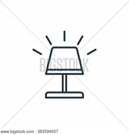 bedroom lamp icon isolated on white background from smarthome collection. bedroom lamp icon trendy a