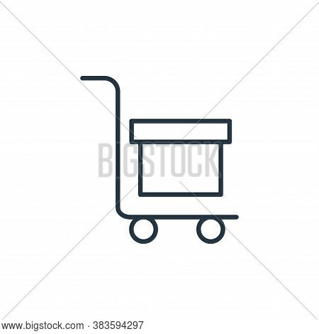 trolley icon isolated on white background from e commerce collection. trolley icon trendy and modern