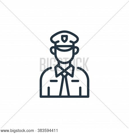 policeman icon isolated on white background from law and justice collection. policeman icon trendy a