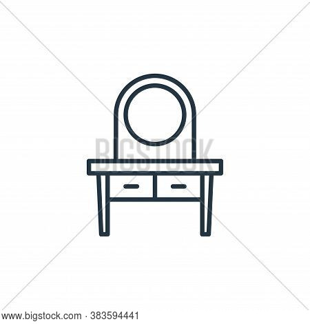 dressing table icon isolated on white background from furniture collection. dressing table icon tren