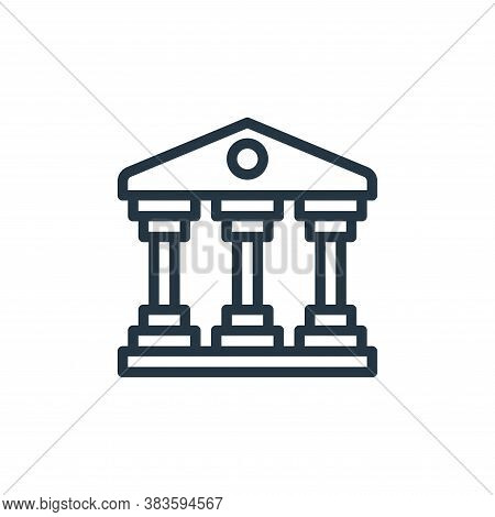 bank icon isolated on white background from travel collection. bank icon trendy and modern bank symb