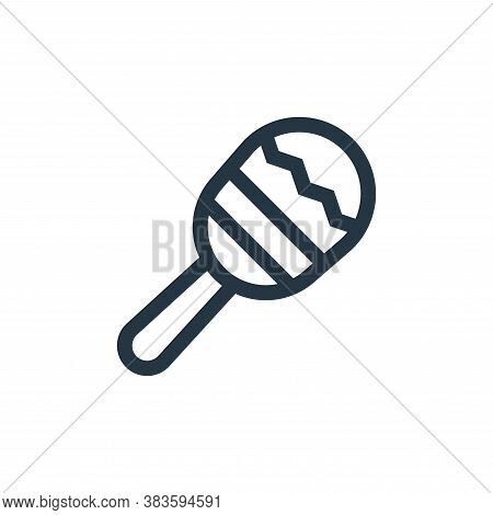maracas icon isolated on white background from cinco de mayo collection. maracas icon trendy and mod