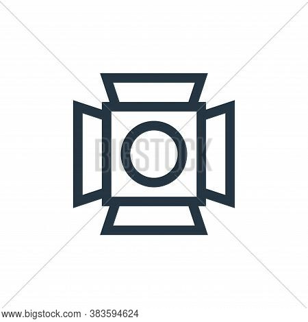 spotlight icon isolated on white background from music festival collection. spotlight icon trendy an