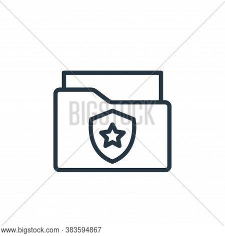crime file icon isolated on white background from crime collection. crime file icon trendy and moder